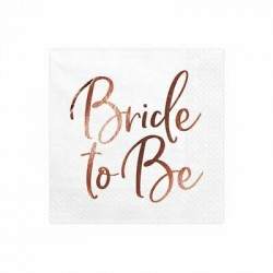 20 guardanapos bride to be...