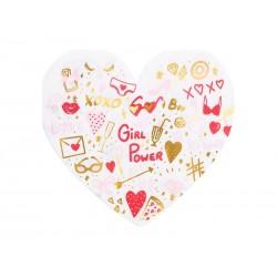 20 guardanapos coração 16x15cm