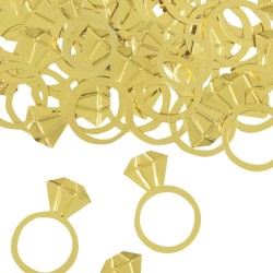 Confettis anel dourado