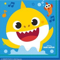 16 Guardanapos Baby Shark...