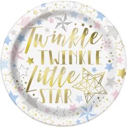 8 Pratos 22cm Twinkle...