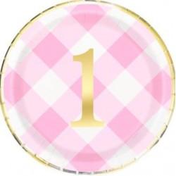 8 Pratos Rosa 1st Birthday...