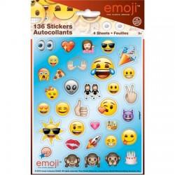 4 Folhas Stickers Emoji
