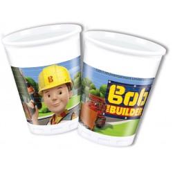 8 copos plástico 200 ml Bob...