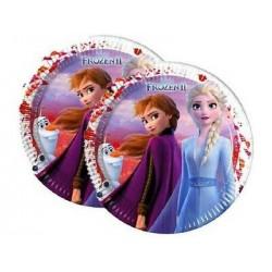8 Pratos 23cm Frozen II