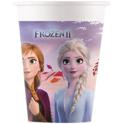 8 copos papel 200ml Frozen II