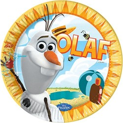 Pratos Frozen Olaf Summer