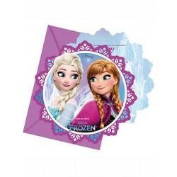 6 Convites Frozen Northen...
