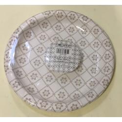 6 pratos papel flores 18 cm