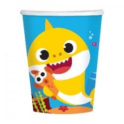 8 copos 266 ml Baby Shark
