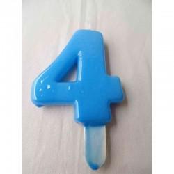 Vela Nº4 9.5cm Azul Bébè