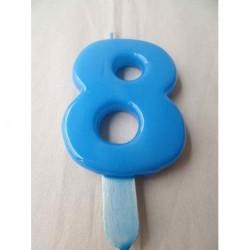 Vela Nº8 9.5cm Azul Bébè