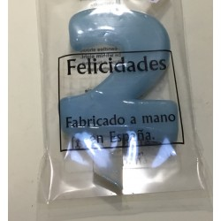 Vela N 2 9.5cm Azul Cyan