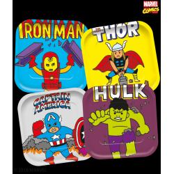 4 Pratos 24 cm Avengers Pop...