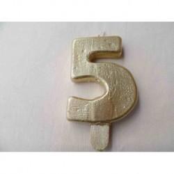Vela N 5 9.5cm Dourado