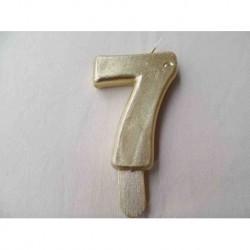 Vela N 7 9.5cm Dourado