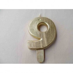 Vela N 9 9.5cm Dourado
