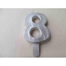 Vela N 8 9.5cm Prateada