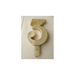 Vela Nº3 13cm Dourado