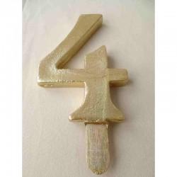Vela Nº4 13cm Dourado