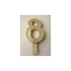 Vela Nº8 13cm Dourado