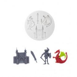 molde silicone medieval