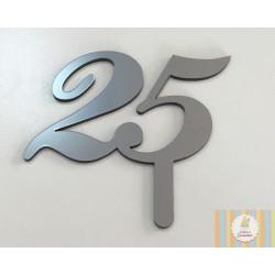 acrilico 25 anos prata