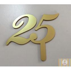 acrilico 25 anos ouro