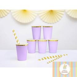 6 copos lilás 220ml