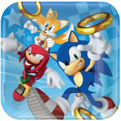 8 pratos 23cm Sonic