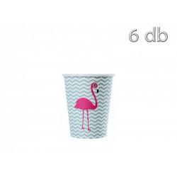 Copos Flamingo 6 uni