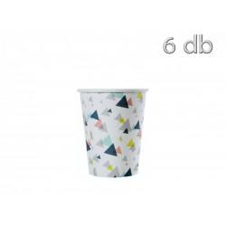 6 copos trinagulos