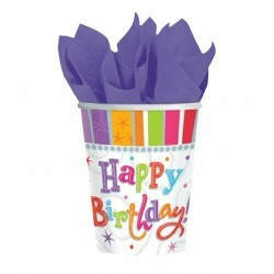 8 copos Happy Birthday