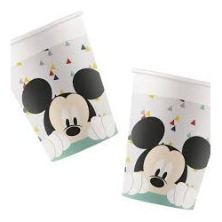 8 Copos Papel Mickey Awesome
