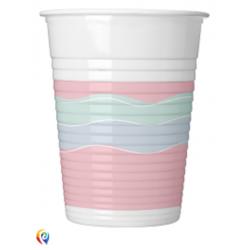 8 copos plástico 200ml...