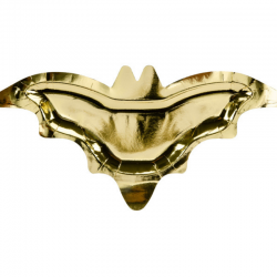 6 pratos bat gold 37,5x18,5cm