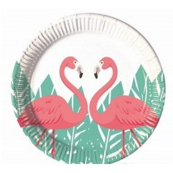 8 Pratos 20 cm Flamingo