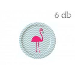 6 pratos flamingo 9