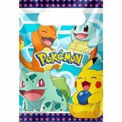 8 sacos lembranças Pokémon