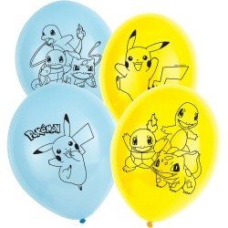 6 Balões Latex  11'  Pokemon