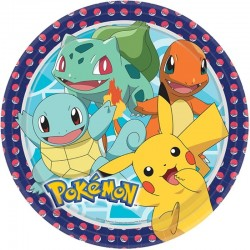 8 Pratos 23cm Pokémon