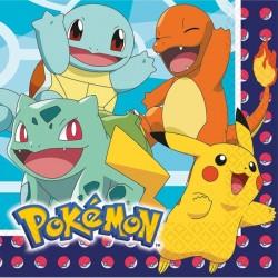 16 guardanapos 33x33cm Pokémon