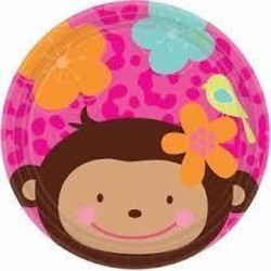 Pratos 17.7 cm Monkey Love