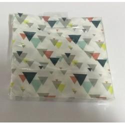 16 guardanapos triangulos...