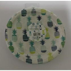 7 pratos 18 cm ananás