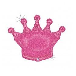 Balão Foil Glitter Coroa...