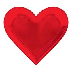 8 Pratos Coração Encarnados...