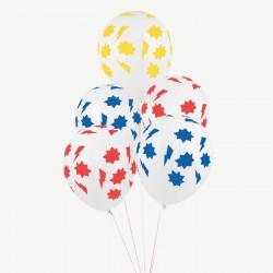 5 balões impressos super...