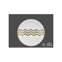 6 Pratos branco e dourado