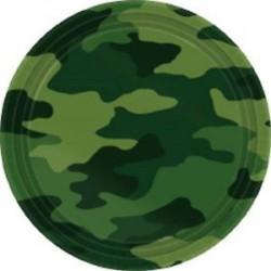 8 Pratos 23 cm Camouflage